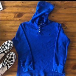 Polo Ralph Lauren boys 14-16 blue knit top